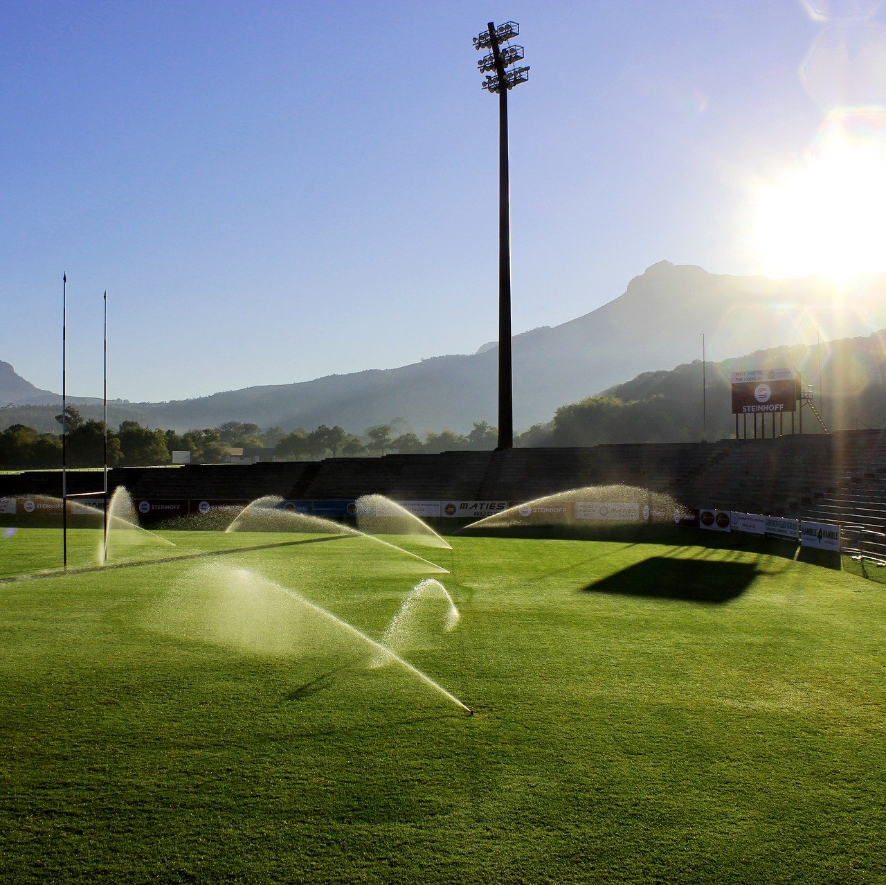 field, sprinklers, photography